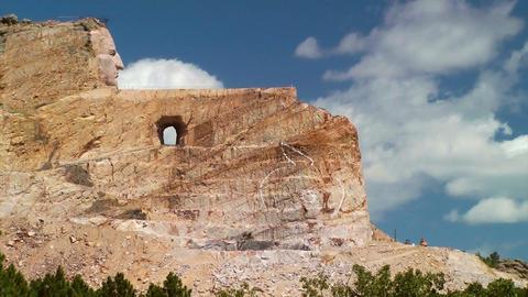 Crazy Horse Memorial Blast Stock Video Footage