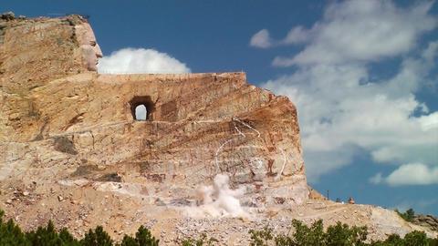 Crazy Horse Memorial Blast Footage