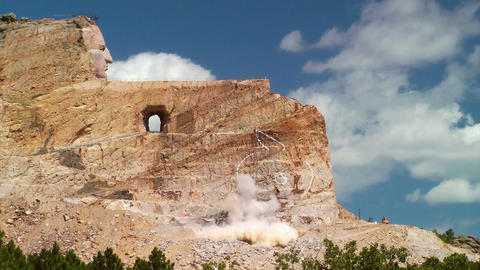 Crazy Horse Memorial Blast Stock Video Footage