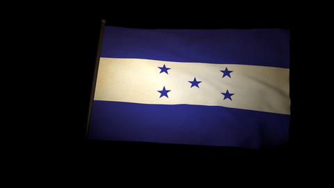 Flag Honduras 01 Stock Video Footage