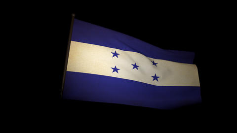 Flag Honduras 01 Animation