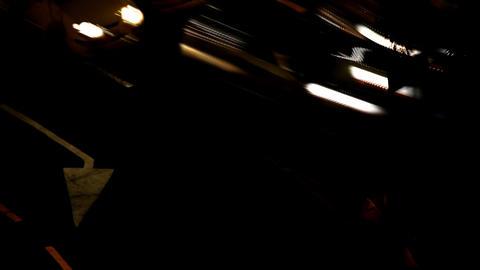 Night City Traffic 09 Stock Video Footage