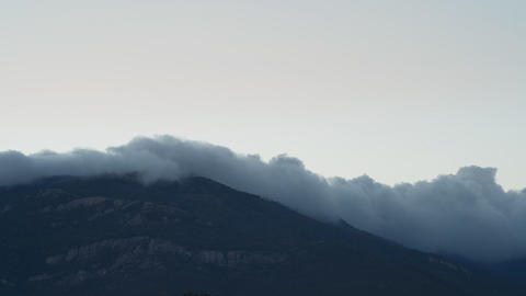 The movement of clouds in Mountains (Timelapse) Footage