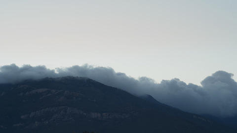 The movement of clouds in Mountains (Timelapse) Stock Video Footage