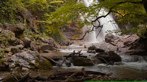 Waterfall, river, mountains, natur Stock Video Footage