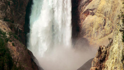 Yellowstone Waterfall Stock Video Footage
