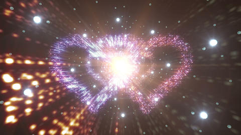Heart Double Space Tunnel ac 3c 1 HD Animation
