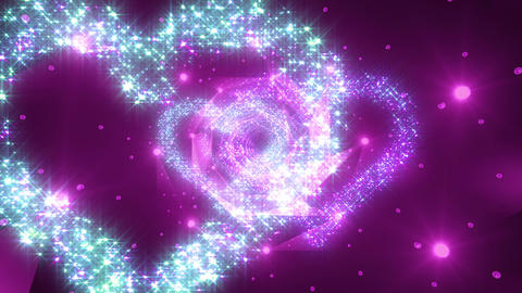 Heart Double Space Tunnel ac 3c 3 HD Animation