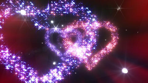 Heart Double Space Tunnel ac 6c 1 HD Stock Video Footage