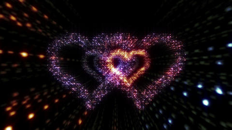 Heart Double tunnel A HD Stock Video Footage