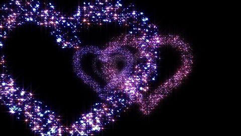 Heart Double tunnel B HD Animation