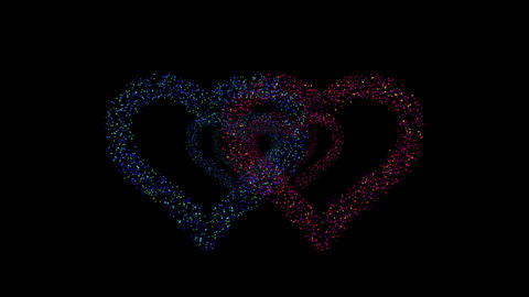 Heart Double tunnel Fa 1b HD Animation