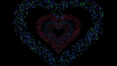 Heart Single tunnel Fb 1b HD Stock Video Footage
