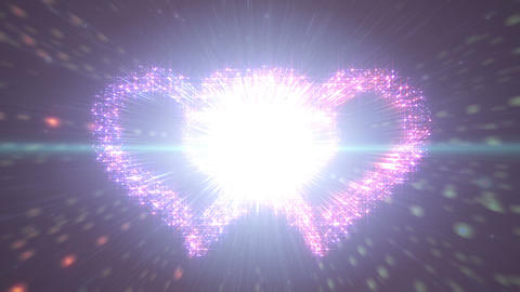 Space flash Heart Double c 3c HD Stock Video Footage