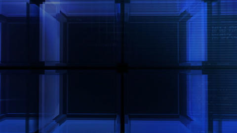 digital blue Cube hd Animation