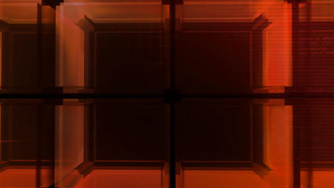digital red Cube hd Stock Video Footage