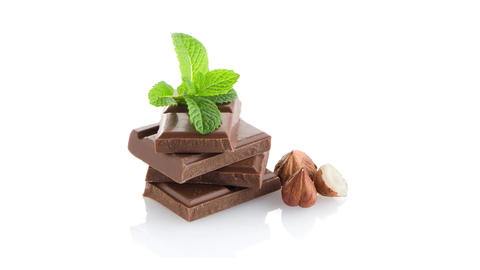 Chocolate parts Stock Video Footage