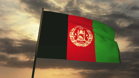 Flag afghanistan 03 Animation