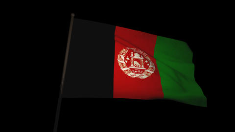 Flag Afghanistan 01 Stock Video Footage