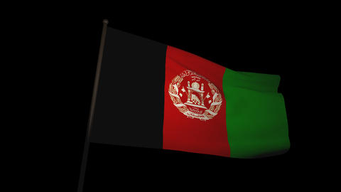 Flag Afghanistan 01 Animation