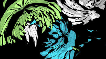 Abstract feather pattern fluttering flying,fractal art Stock Video Footage