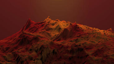 Spectacular orogeny & desert,red mountain & volcanic activity Animation