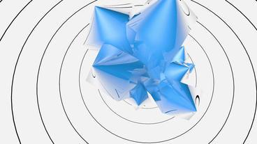 huge blue quartz reflect circle pulse curve Animation