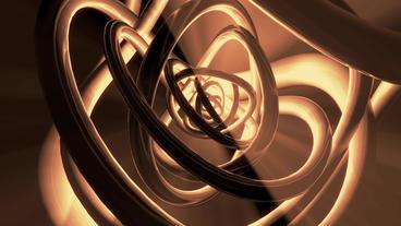 3d metallic steel tube twist waves,tech pipeline background Stock Video Footage