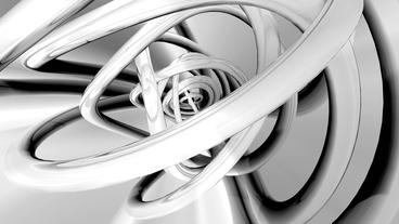 3d metallic steel tube twist waves,tech silver pipeline... Stock Video Footage