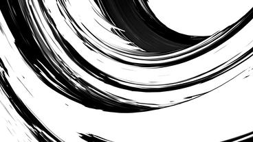 abstract color rough curve lines shaped arch tunnel,Black & white contrast Animation