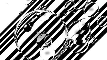 float water bubble against black & white stripe ba Stock Video Footage