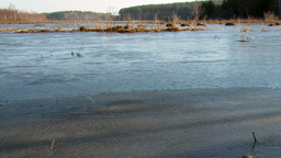 Morning comes. Ice begins to melt Stock Video Footage