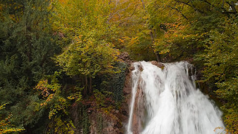 Waterfall, river, mountains, nature Footage