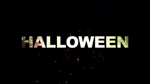 Halloween fireworks 02 Stock Video Footage