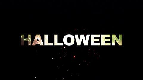 Halloween fireworks 02 Stock Video Footage