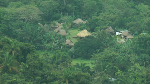 Embera Indian Traditional Village. The Embera†Stock Video Footage