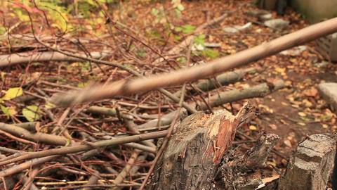 chopping firewood Stock Video Footage