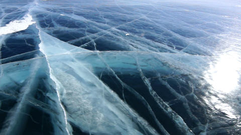 Cracked Icefield Footage