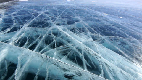Cracked Icefield Stock Video Footage