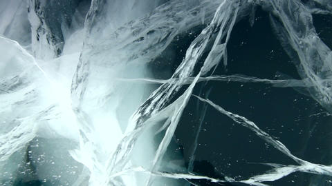 Deep Ice breaks Stock Video Footage