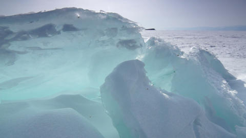 Giant ice blocks Stock Video Footage
