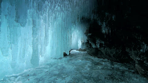 Ice cave Stock Video Footage