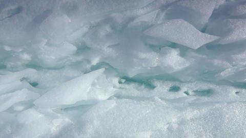 Ice field rift Stock Video Footage