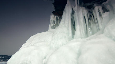 Ice Rock Stock Video Footage