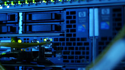 Scientific data center Network connections Stock Video Footage
