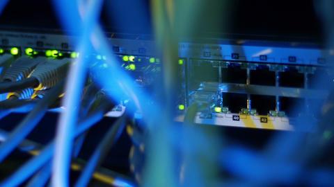 Scientific data center Network switch Stock Video Footage
