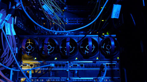 Scientific data center Servers back Stock Video Footage
