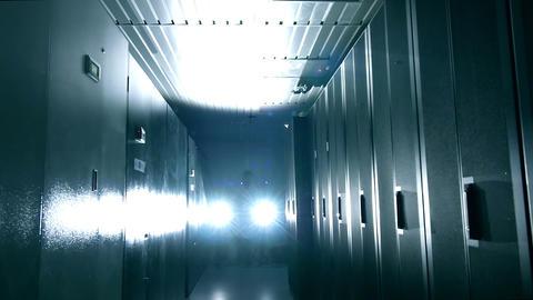 Scientist in data center Stock Video Footage