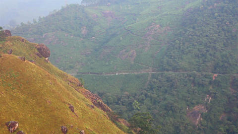 mountain landscape with road in Munnar Kerala Indi Stock Video Footage