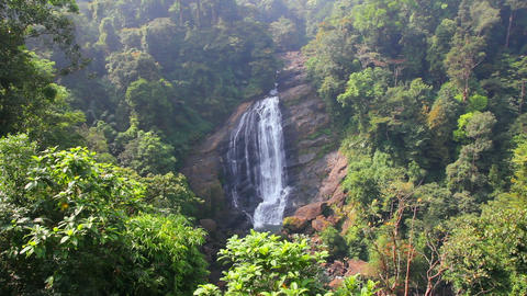 Waterfall In Kerala State India stock footage